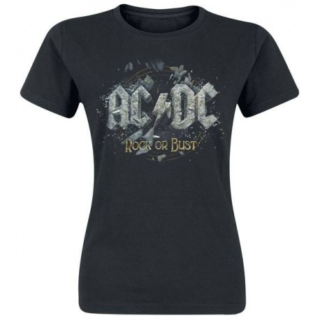 T-shirt Girlie AC/DC - Rock Or Bust
